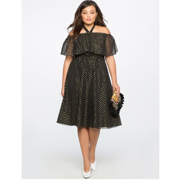 Eloquii Dresses & Skirts - Off the Shoulder Metallic Dress